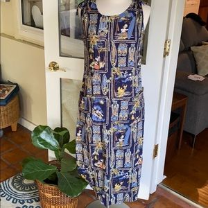 Disney Original Totem Hawaiian Maxi Dress
